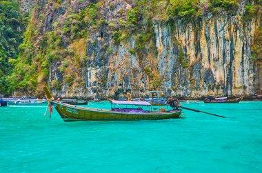 Emerald waters of Pileh Bay, Phi Phi Leh Island, Krabi, Thailand