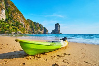 The seascape with a boat, Ao Nang, Krabi, Thailand