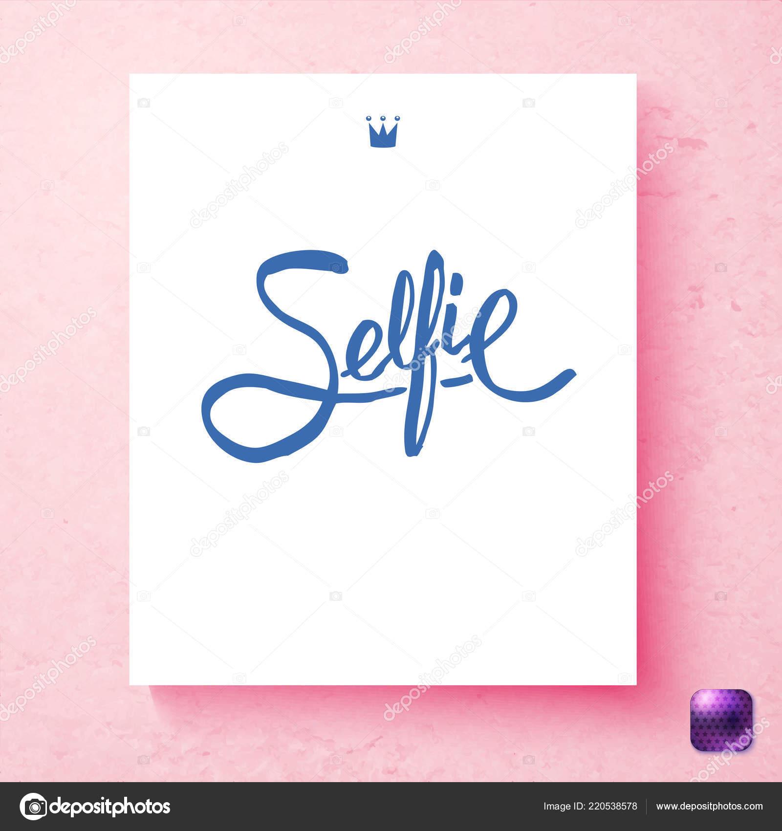 handwritten cursive selfie crown postcard template postcard template