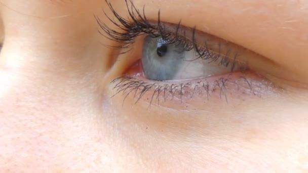 Modré oční dívky se šatkami