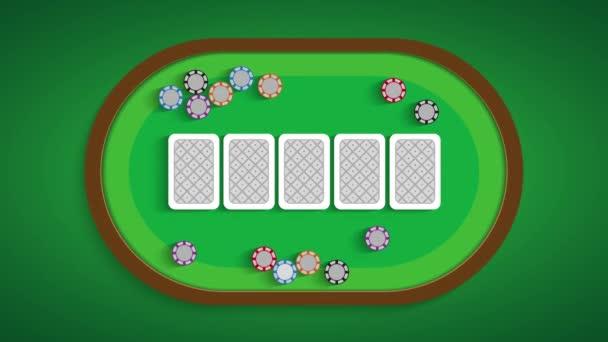 Tavolo da poker con una combinazione di Ace King