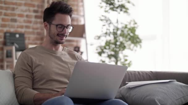 Entrepreneur working with laptop at home office