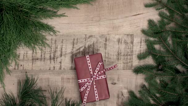 Concept of wrapping christmas presents