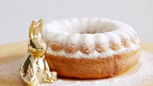 Easter cake with powdered sugar