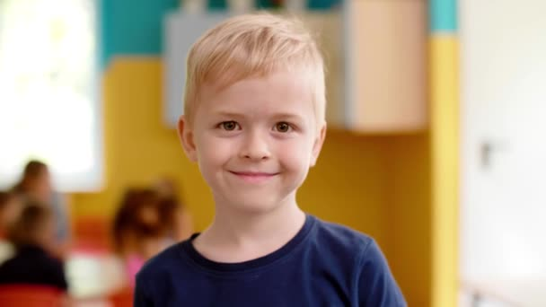 Portrait of smiling preschool boy