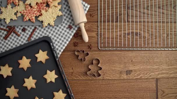Karácsonyi háttér a csillag alakú cookie-k