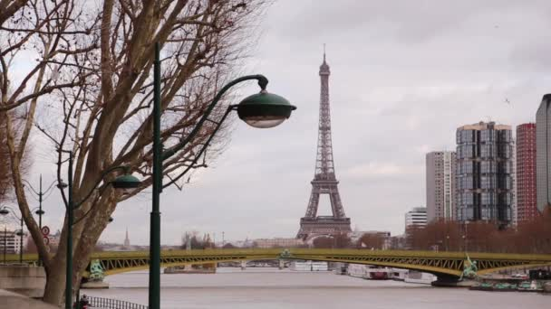 Shooting streets of Paris. France. Autumn landscapes of the city.