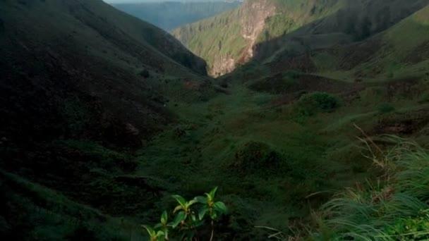 Video von grünem Tal, das vor vielen Jahren aus Vulkan entstand