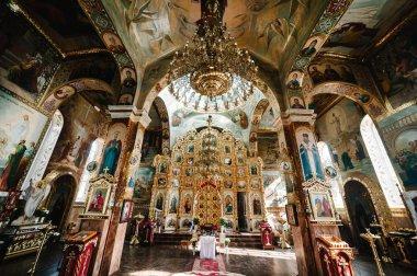 Scenic view of Orthodox Church interior