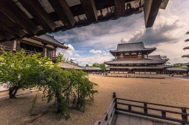 Ikaruga - June 03, 2019: The Horyu-Ji, temple in Irakuga, Nara P