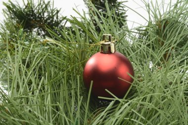 Red Christmas ornament, ball