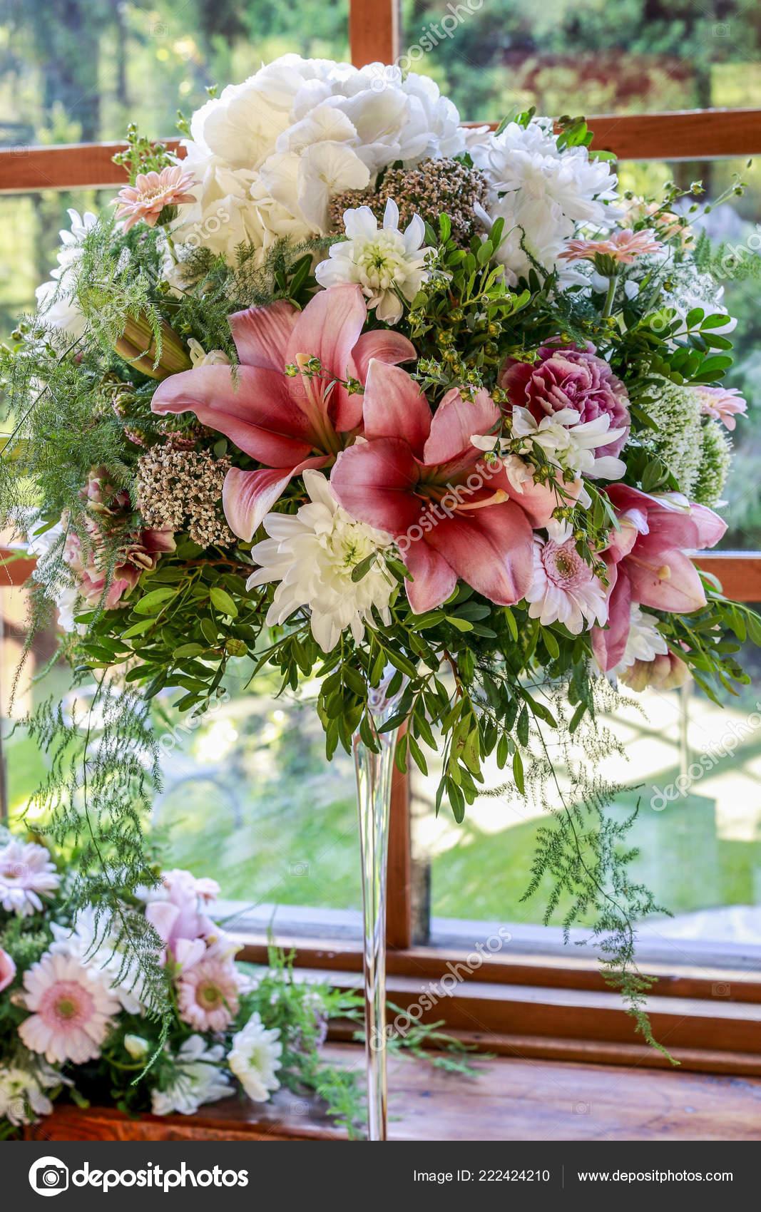 Boda Adornos Florales Con Rosas Lirios Dalias Claveles