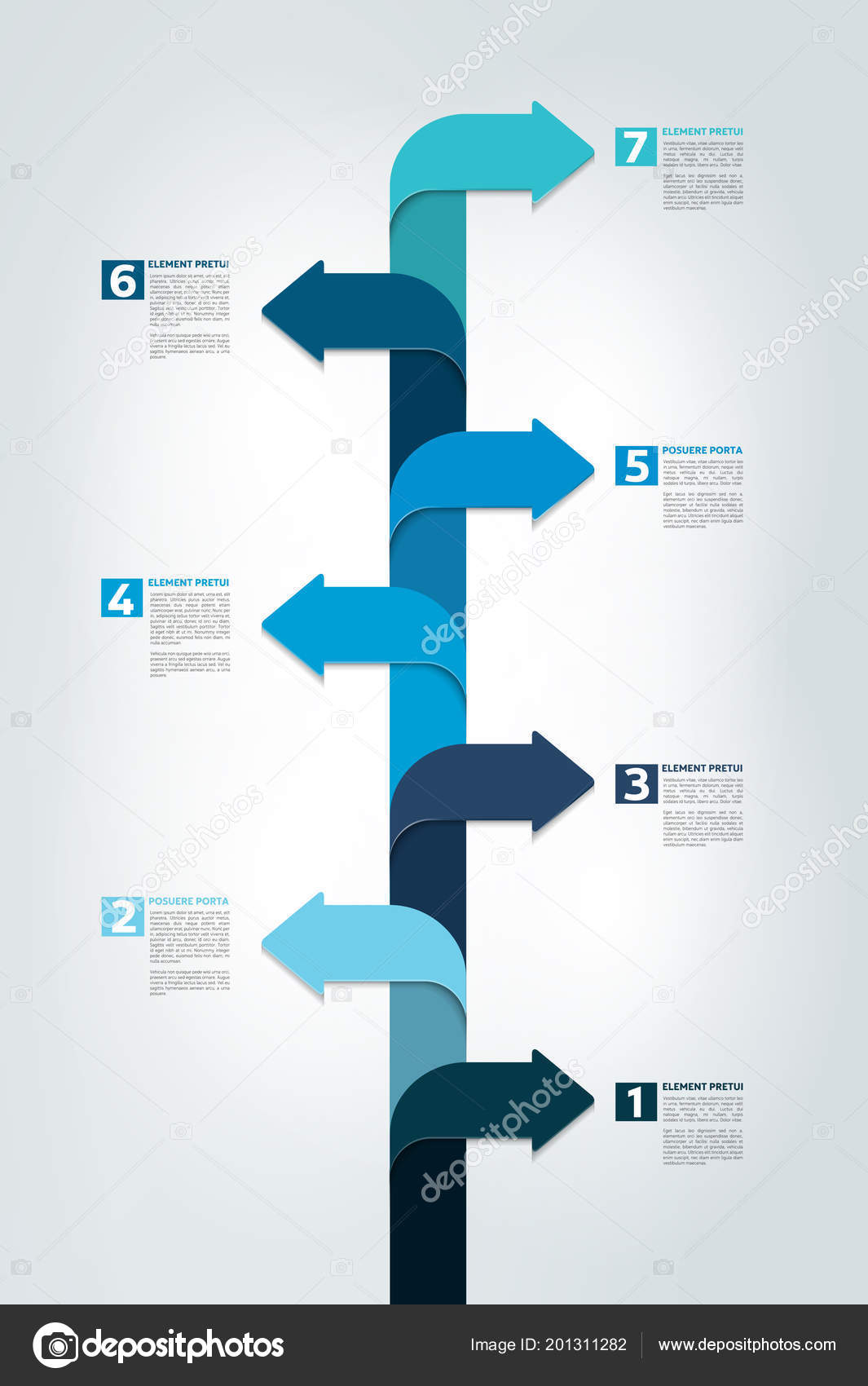 timeline vertical report template chart scheme step step infographic