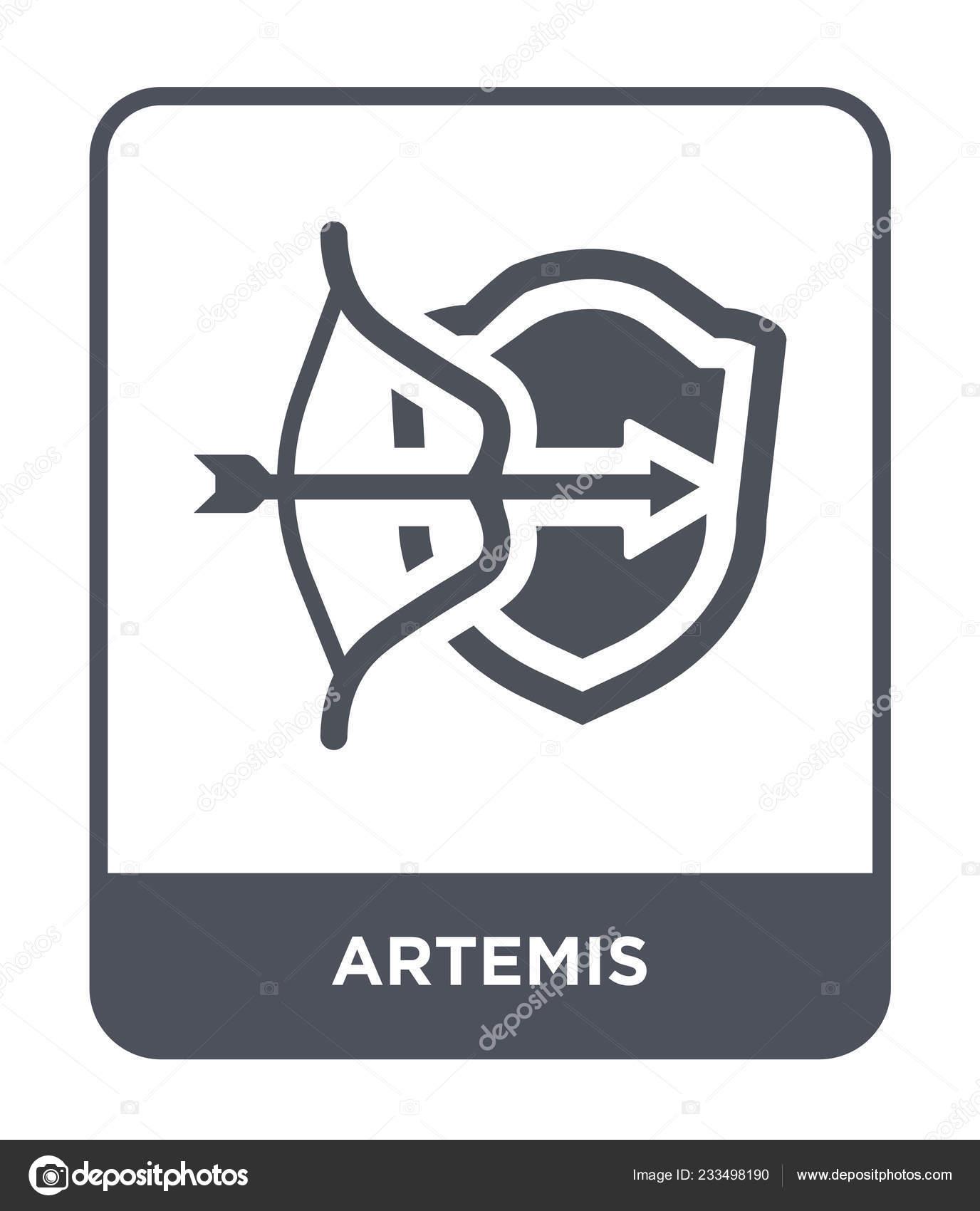 Artemis Icon Trendy Design Style Artemis Icon Isolated White