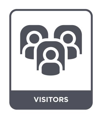 visitors icon in trendy design style. visitors icon isolated on white background. visitors vector icon simple and modern flat symbol.