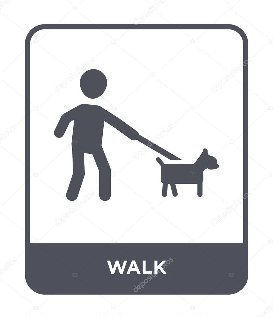 walk icon in trendy design style walk icon isolated on white background walk vector icon simple and modern flat symbol for web site mobile logo app ui walk icon vector illustration app ui walk icon vector illustration