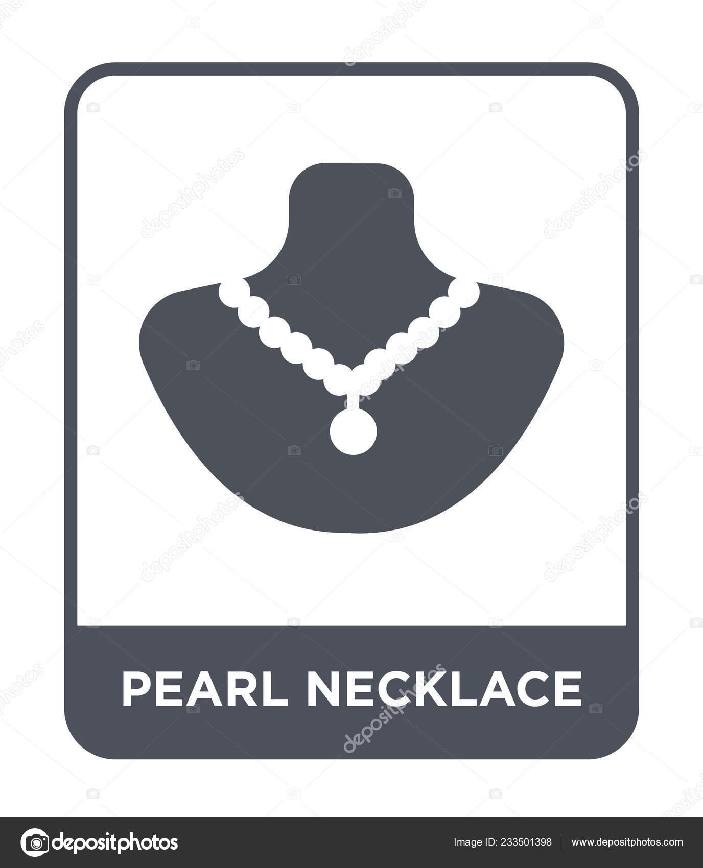 9632f4e4748c Icono Collar Perlas Estilo Diseño Moda Icono Collar Perlas Aislado — Vector  de stock