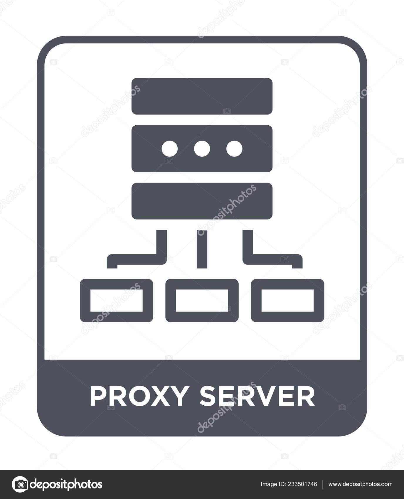 Proxy Server Icon Trendy Design Style Proxy Server Icon Isolated