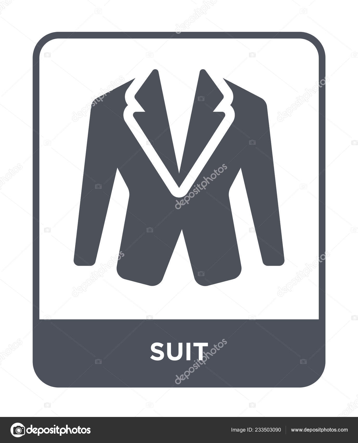 Suit Icon Trendy Design Style Suit Icon Isolated White