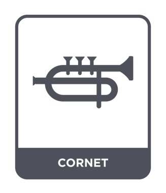 cornet icon in trendy design style. cornet icon isolated on white background. cornet vector icon simple and modern flat symbol.