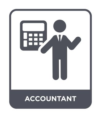 accountant icon in trendy design style. accountant icon isolated on white background. accountant vector icon simple and modern flat symbol.