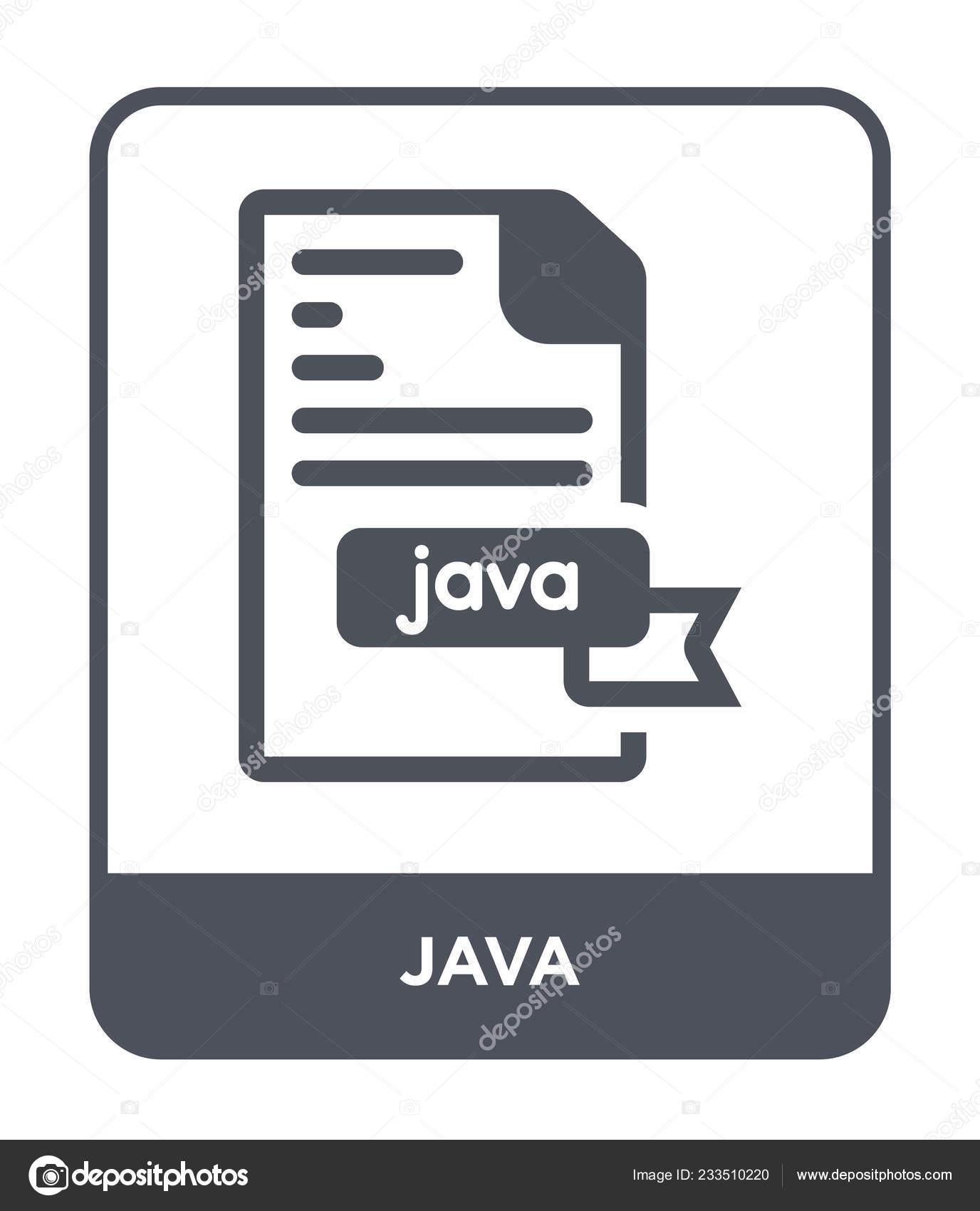 Java Icon Trendy Design Style Java Icon Isolated White
