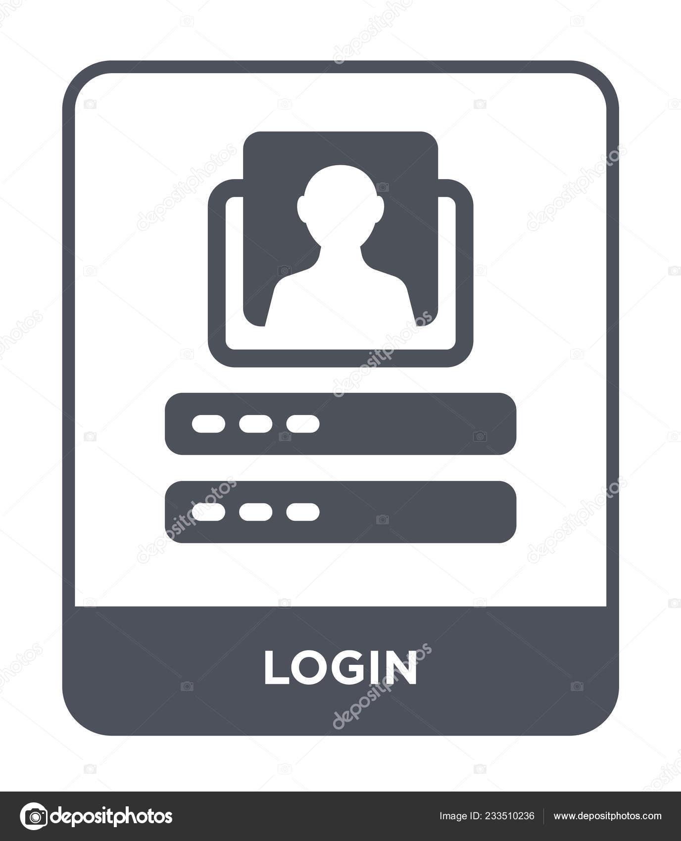 Login Icon Trendy Design Style Login Icon Isolated White