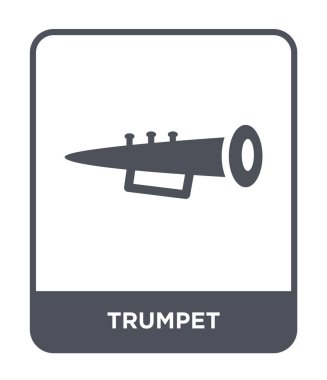 trumpet icon in trendy design style. trumpet icon isolated on white background. trumpet vector icon simple and modern flat symbol.