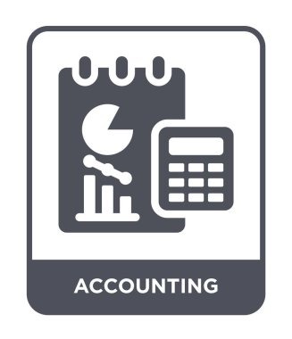 accounting icon in trendy design style. accounting icon isolated on white background. accounting vector icon simple and modern flat symbol.