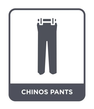 chinos pants icon in trendy design style. chinos pants icon isolated on white background. chinos pants vector icon simple and modern flat symbol.