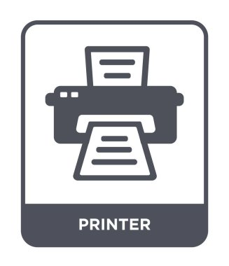 printer icon in trendy design style. printer icon isolated on white background. printer vector icon simple and modern flat symbol.