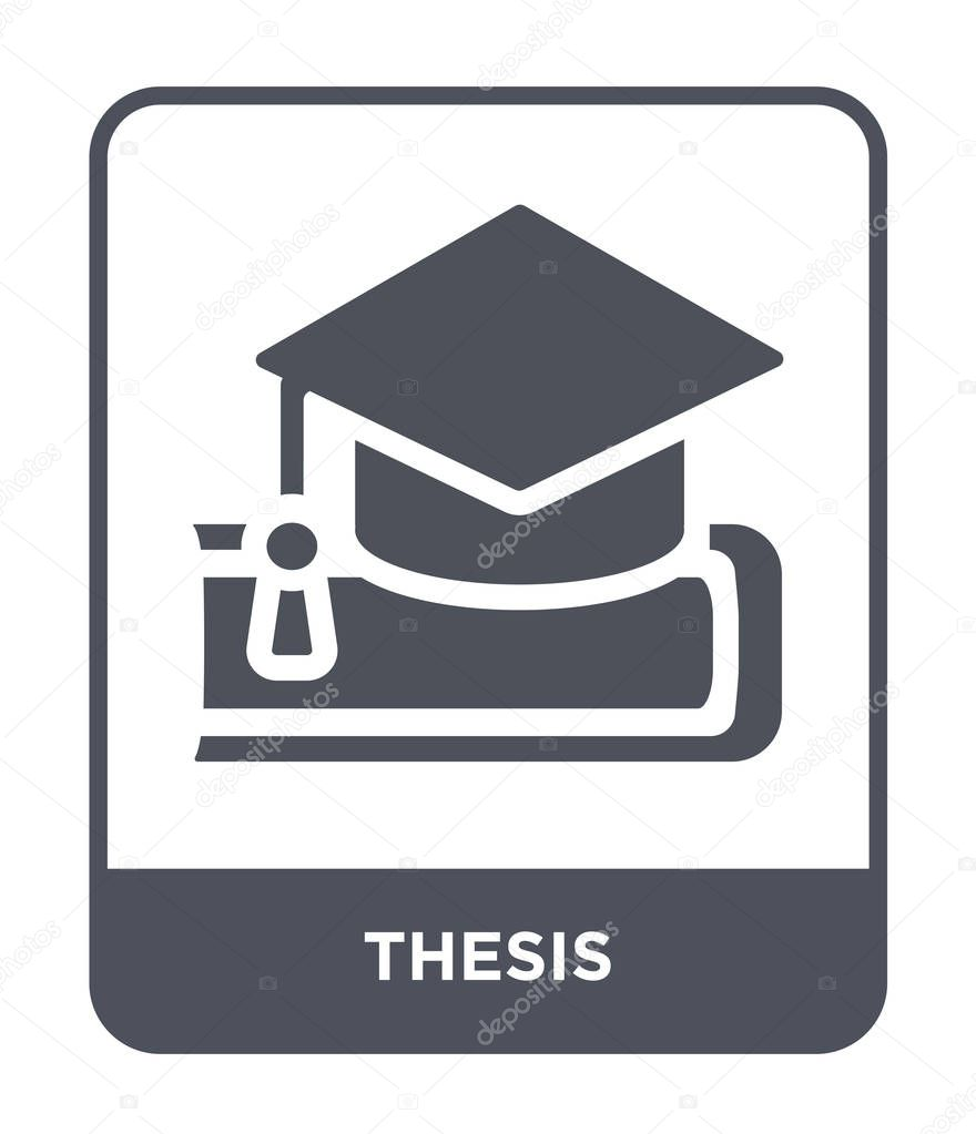 ✅ Thesis Icon In Trendy Design Style. Thesis Icon Isolated On White  Background. Thesis Vector Icon Simple And Modern Flat Symbol. Premium  Vector In Adobe Illustrator Ai ( .ai ) Format, Encapsulated