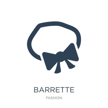 barrette icon vector on white background, barrette trendy filled icons from Fashion collection