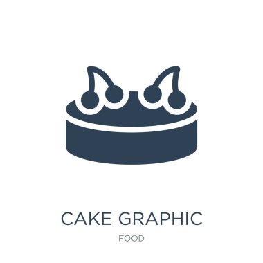 cake graphic icon vector on white background, cake graphic trendy filled icons from Food collection