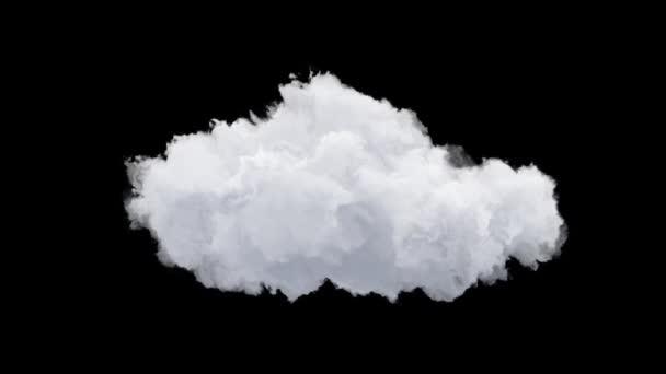 Elszigetelt felhő átlátszó háttér, hurok animáció zökkenőmentes, a kompozit kész