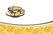 Šablona vizitka kreativní s pomeranči