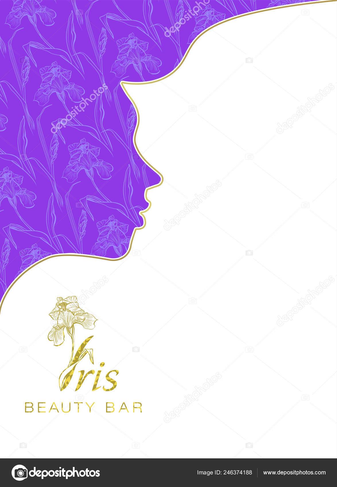 Iris Beauty Bar Banner Beauty Salon Hotel Salon Beauty Resort Stock Photo C Marina Eisymant 246374188