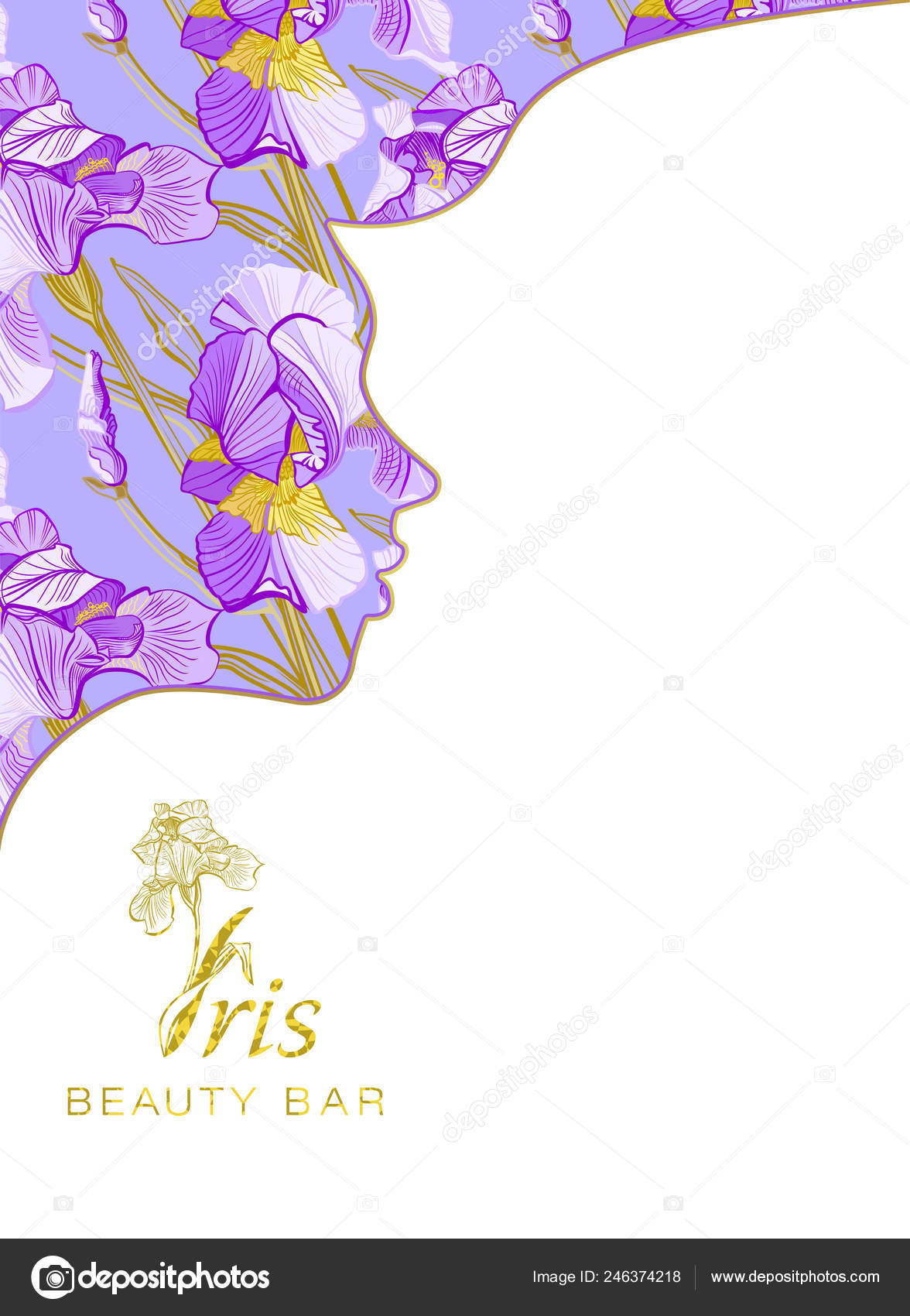 Iris Beauty Bar Banner Beauty Salon Hotel Salon Beauty Resort Stock Photo C Marina Eisymant 246374218