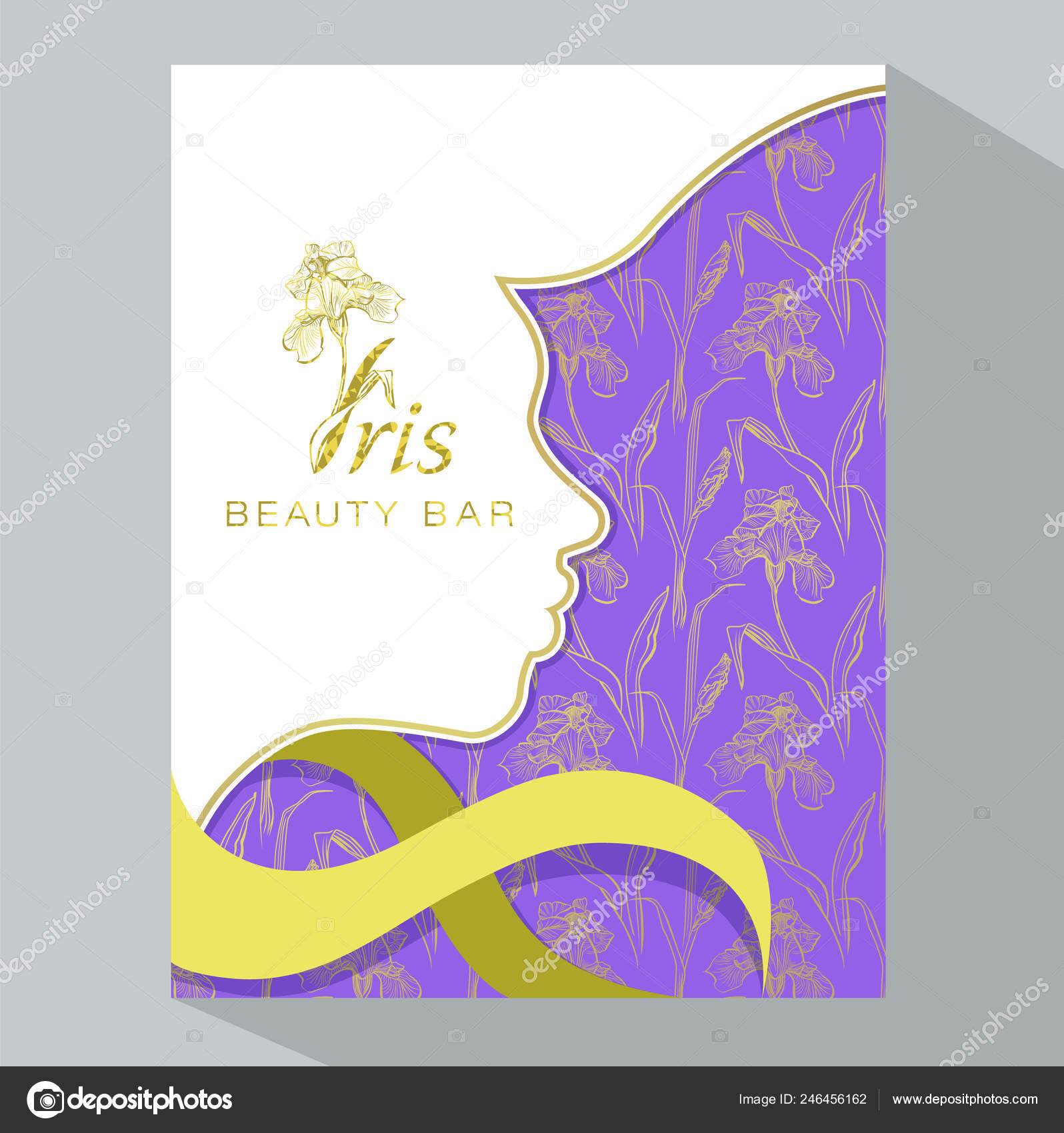Iris Beauty Bar Banner Vector Beauty Salon Hotel Salon Beauty Stock Vector C Marina Eisymant 246456162