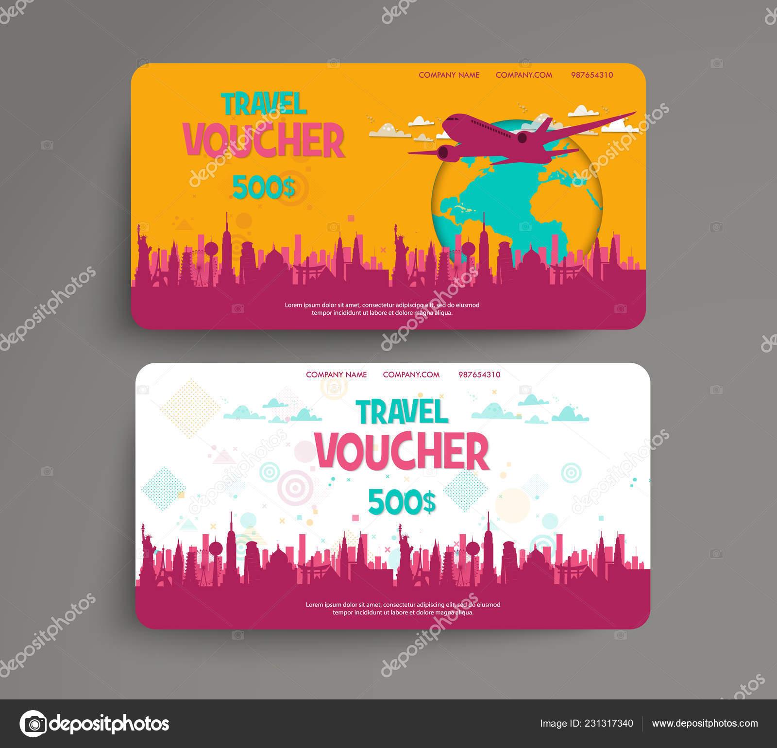 tarjeta regalo viaje plantilla
