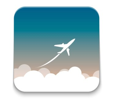 airplane symbol. Vector EPS10.
