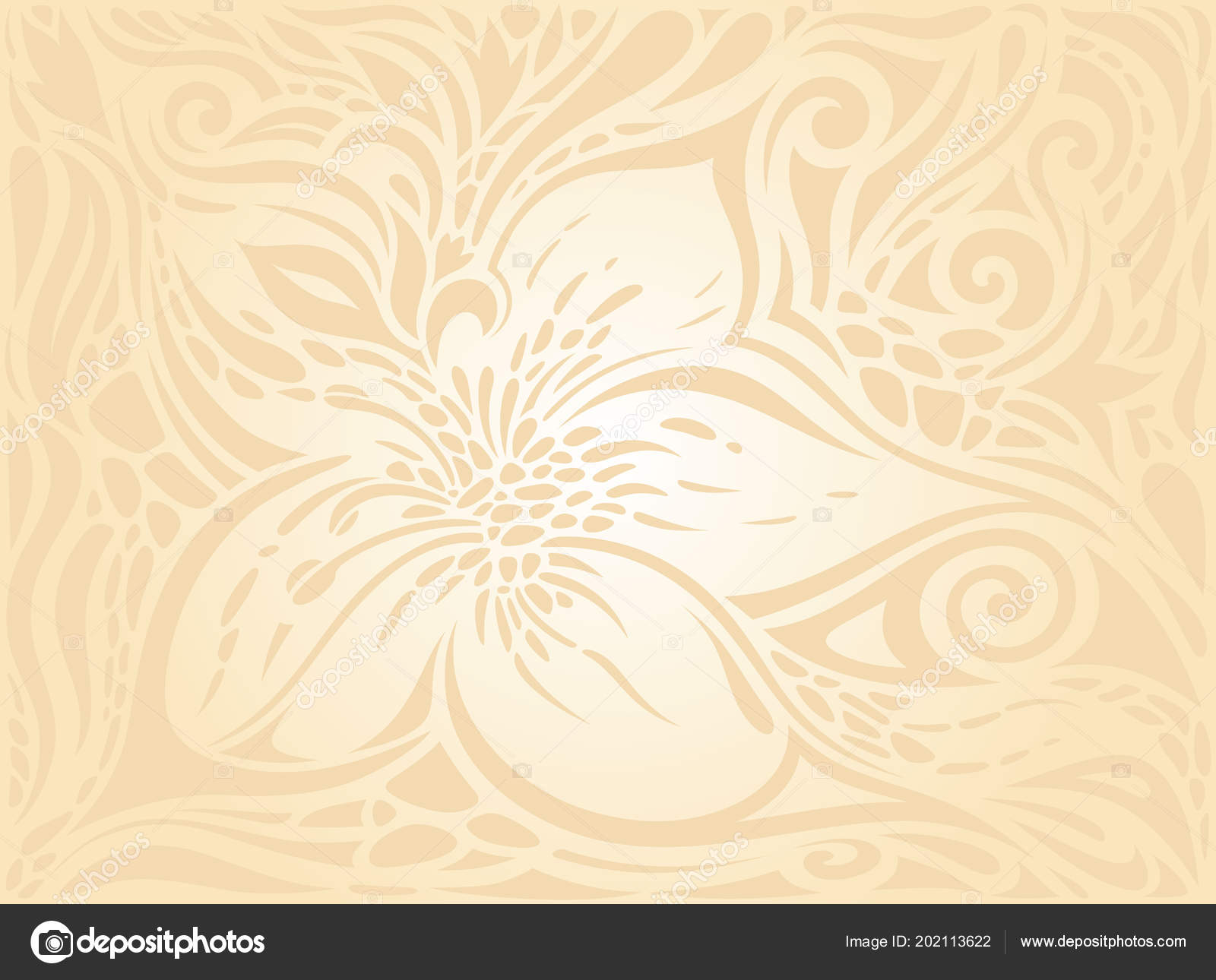 Floral Retro Wedding Pale Peach Wedding Background Design Invitation ...