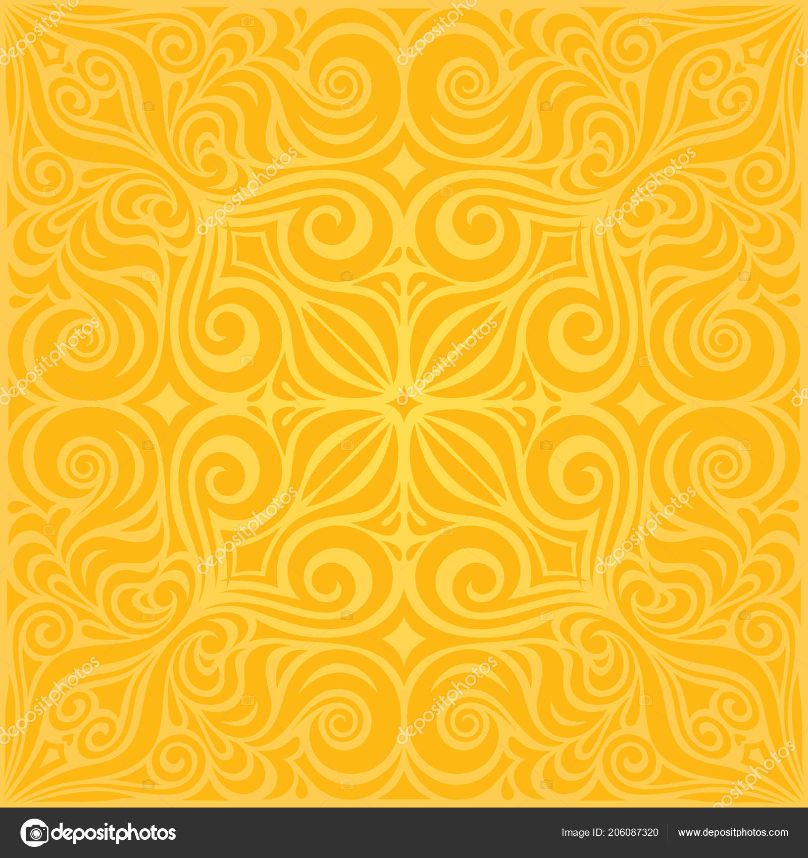 depositphotos 206087320 stock illustration flowers yellow colorful floral wallpaper