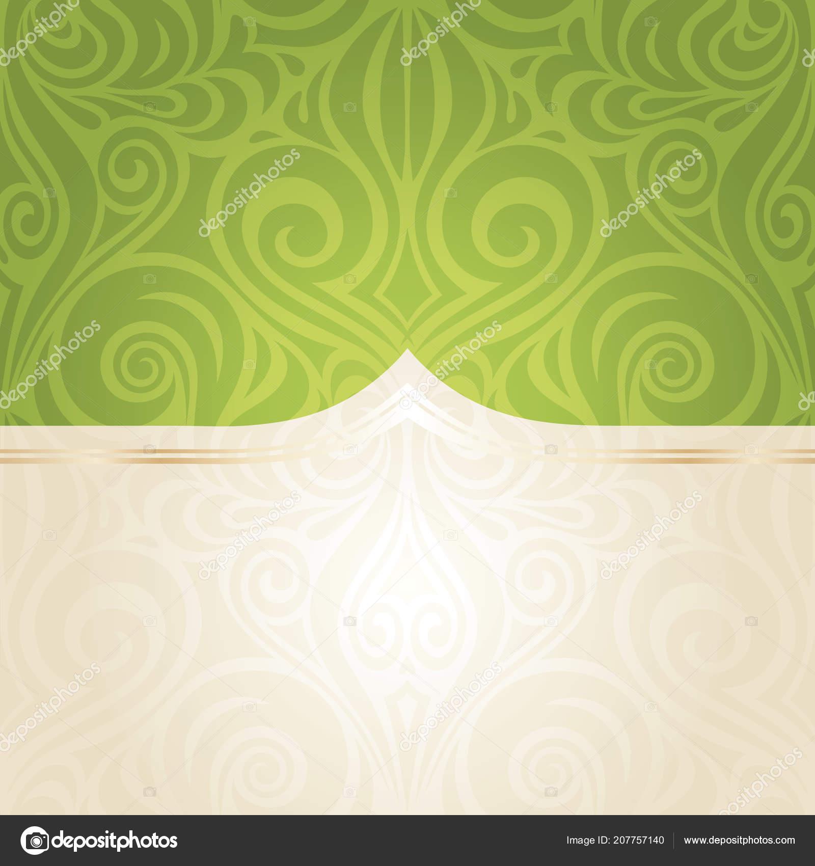 グリーン イースター花のヴィンテージ壁紙ベクトル マンダラ デザイン Backround コピー スペース ストックベクター C Erinvilar 207757140