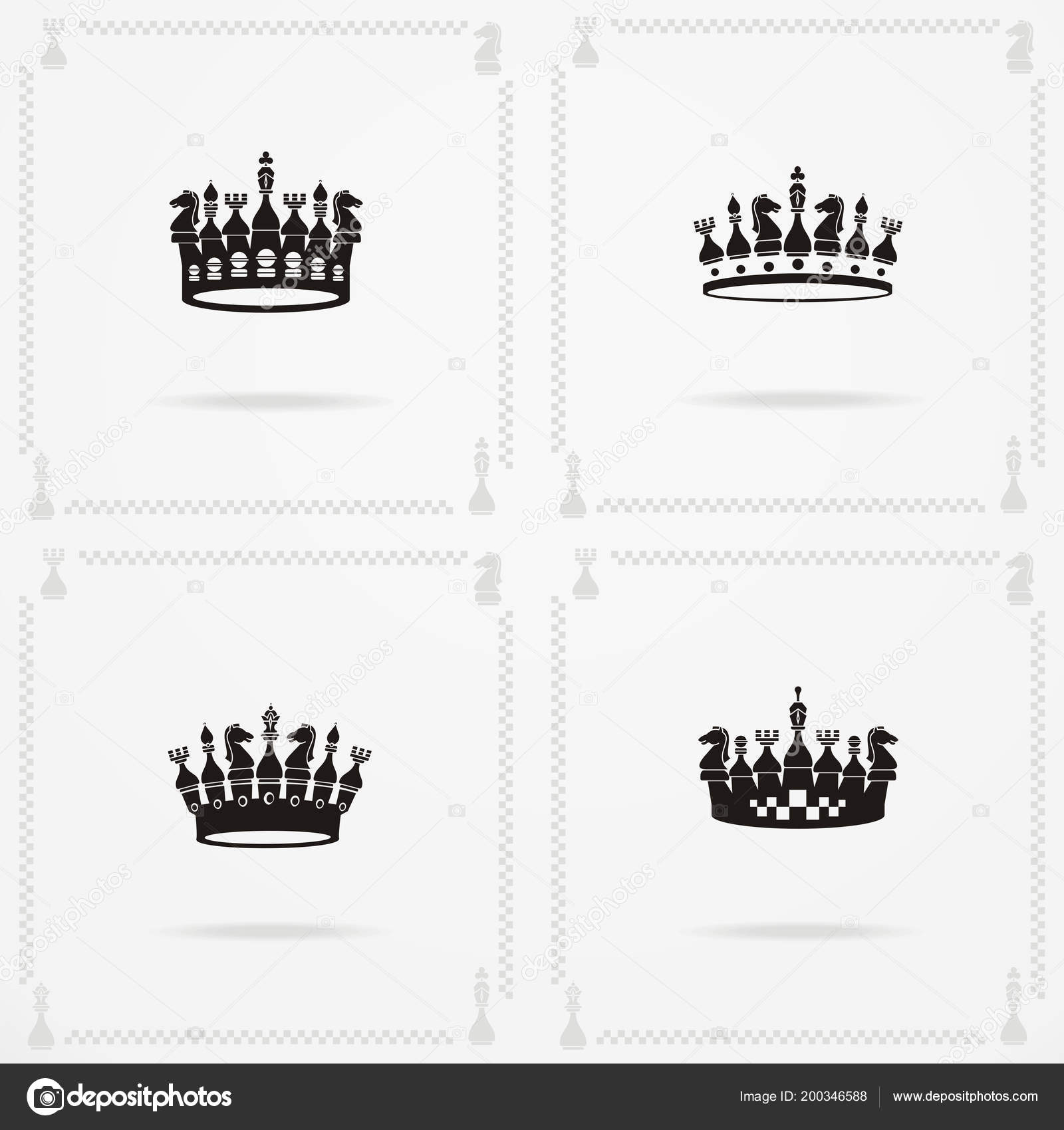 King And Queen Crowns Symbols Stock Vector Fontgraf 200346588