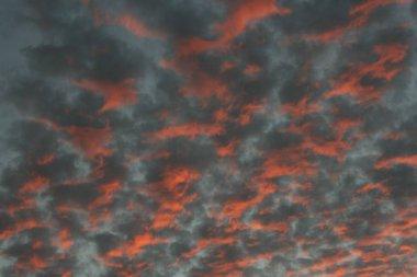 Sunset in Madrid closeup