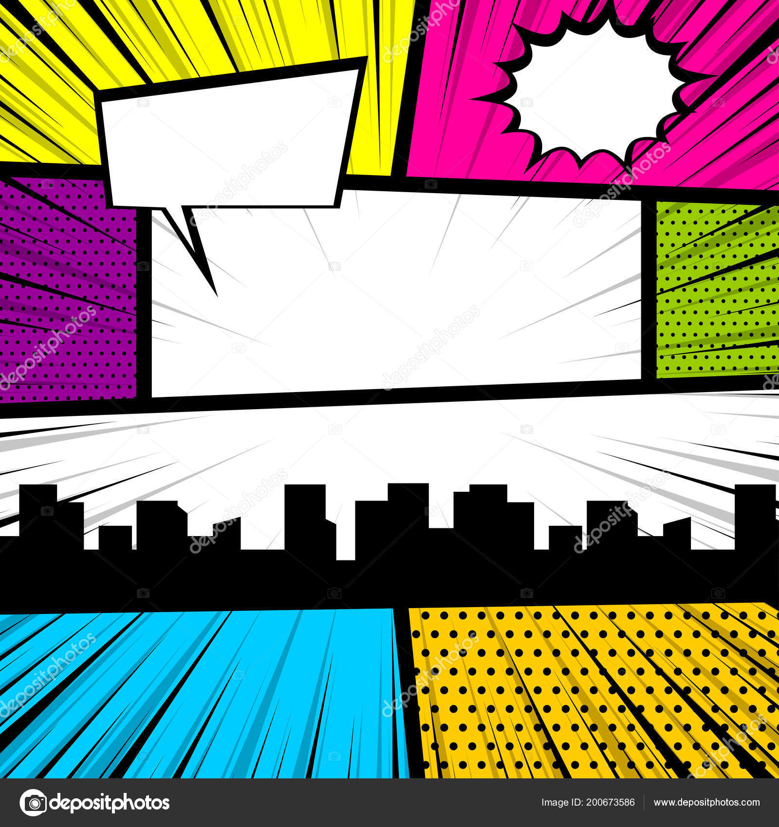Comic book backdrop | Pop art comic book colored backdrop