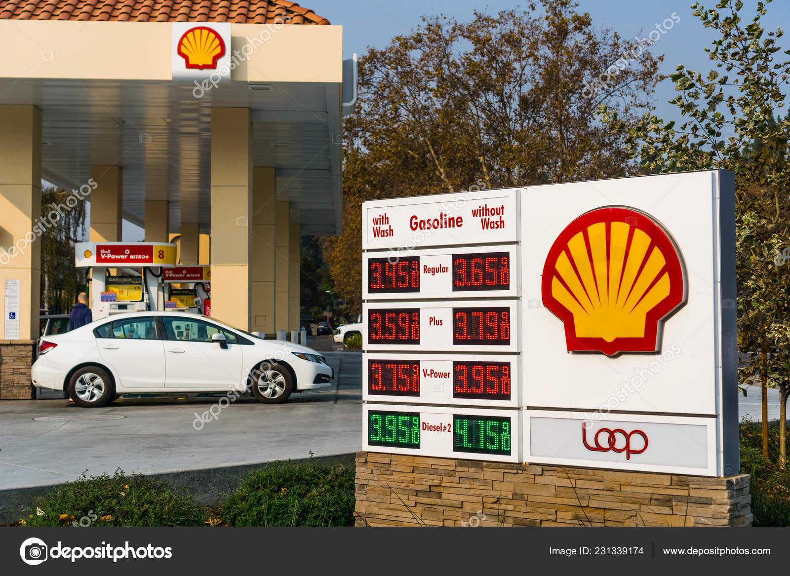 November 2018 Union City Usa Shell Gas Station Located San – Stock