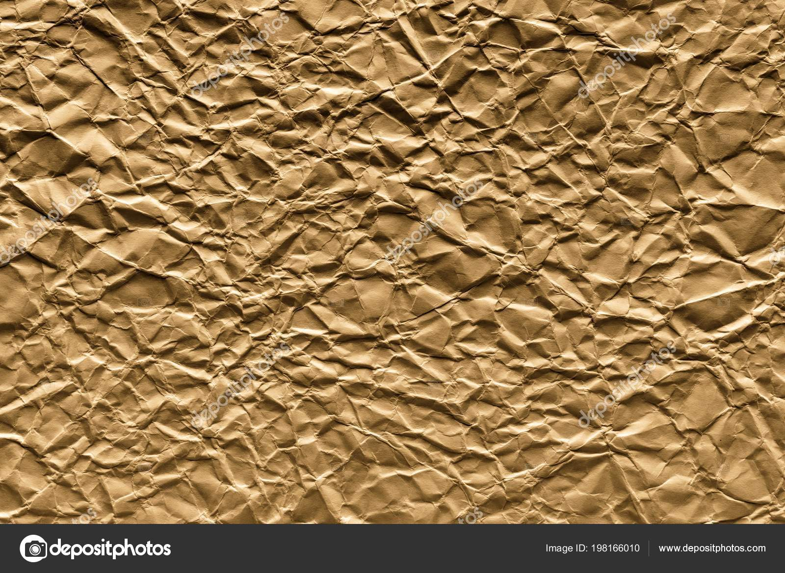 Crumpled Sheet Paper Old Brown Color Abstract Textured