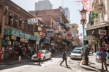 Typical buildings in Chinatown in San Francisco, California, USA